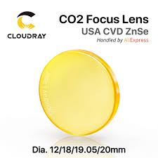 <b>USA ZnSe</b> CO2 <b>Focus Lens</b> Dia. 12 20mm FL 50.8 63.5 101.6mm ...