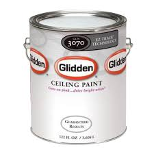 ceiling white paintGlidden 1 gal Bright White Interior Flat EZ Track Ceiling Paint