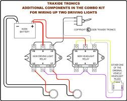 headlight wiring kits traxide rv traxide rv combo hl driving light wiring kit