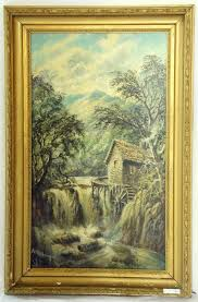alfred worthington 1835 1925 local interest oil on board pandy mill betws