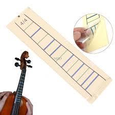 Us 0 27 24 Off Violin Fretboard Sticker Tape Fiddle Fingerboard Chart Finger Marker For 4 4 Jul20_15 In Violin Parts Accessories From Sports