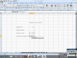 calculate mass index bmi in excel