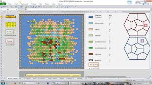 Hexagon Chart Excel Part 1 Hexcel Updated A Spreadsheet Wilderness Exploration Tool Hex Crawl