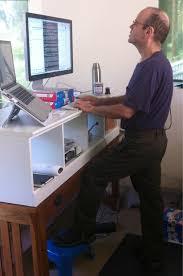 standing desk posture.  Desk 6 Mitch Wagner At Standing Desk For Standing Desk Posture N