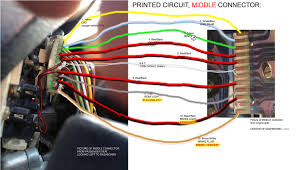 instrument cluster and central warning unit color wires attached images