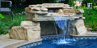 In ground pools with waterfalls Landscaping Loveseat Grotto Swimming Pool Waterfall Kit Ricorock Swimming Pool Waterfall Kits Ricorock Inc