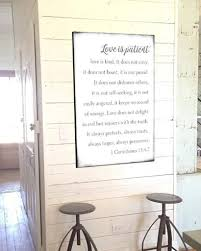 marvelous idea love is patient wall art home design ideas kind farmhouse sign walls of wisdom