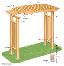 how to build a garden arbor the family handyman save diagram of arbor construction