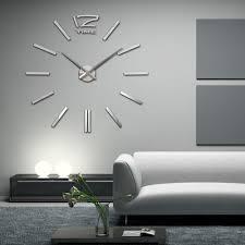 whole 2016 new item diy 3d clock home decor wall clock quartz clock acrylic mirror stickers 20 inch wall clocks for living room large decorative clock