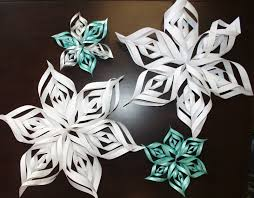 paper snowflakes 3d craft for fun how to make a 3d paper snowflake