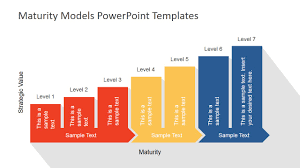 Flat Maturity Models Powerpoint Template