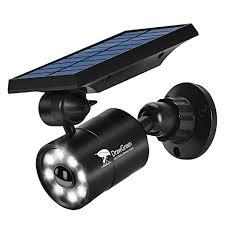 solar flood lights outdoor motion sensor 1400lm bright led spotlight 5w 110w equiv