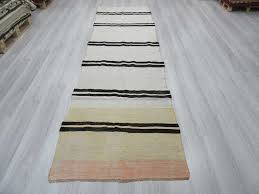 lovely striped runner rug with handwoven vintage black and white pertaining to plan 17
