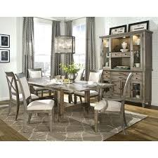legacy clic brownstone village patina trestle dining table with two 14 inch extension leaves