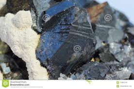 Sulfide Minerals A Macro Close Up View Of Marmatite Sulfide Minerals With A