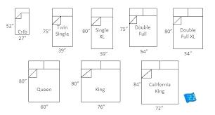 Bed Chart Mattress Size King Queen Chart Alaskan Measurements Vs Bed