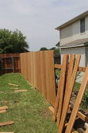 A very common example using standard cedar fence boards. By using these  boards, fence