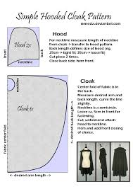 Cloak Sewing Pattern Classy Simple Hooded Cloak Pattern By Nenesta On DeviantART A Super Easy