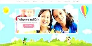 Kids School Website Template Kids Center Template Graphic Web Design Magazine Free