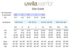 Hip Measurement Chart Uwila Warrior Size Guide