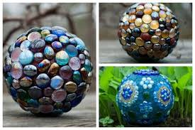 Decorating Bowling Balls Marbles Cool DIY Decorative Garden Art Ball Tutorial Empress Of Dirt