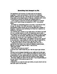 changed your life essay life changing experience essay examples kibin
