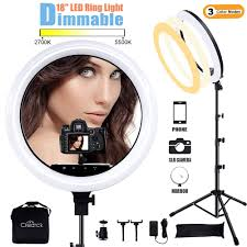 Ring Light Photography Amazon Create Ring Light With Stand 18 Inch Led Ring Light Kit With Phone Holder Dimmable 2700k 5500k For Photography Makeup Youtube Video Shooting