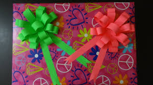 paper crafts paper ribbon bow for gift box gift decoration ideas