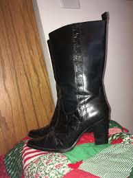 Tooled Leather Antonio Melani Size 9 M Cassidy Anthony Melani Boots Black Leather Western With Floral Pattern