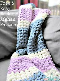 Free Crochet Patterns For Beginners Extraordinary New Easy Beginner Afghan Crochet Patterns Free Easy Weekend Afghan