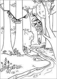 A River In The Forest Coloring Page From Open Season Category
