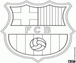 Logo Van Fc Barcelona De Spaanse Voetbalclub Barça Kleurplaat