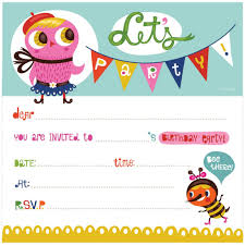 Free Templates For Invitations Birthday Birthday Invitation Free Printable Owl Clipart Birthday Invitation 15