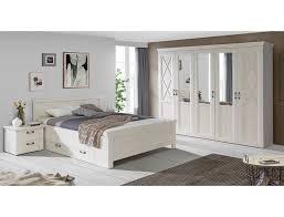 Schlafzimmer Kasimir 84 Pinie Weiß Bett 180x200 2x N Real