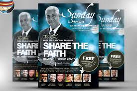church flyers photos graphics fonts themes templates share the faith church psd flyer