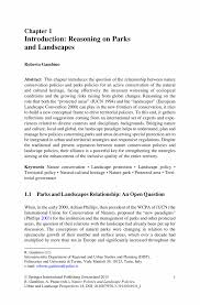 introduction reasoning on parks and landscapes springer inside