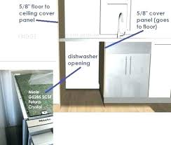 gap between dishwasher and countertop close cabinets ceiling