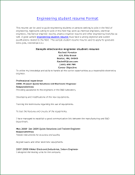 Examples Of Internship Resume For Engineering Collection Of