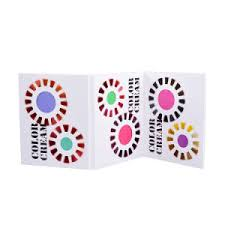 3 Pages Folded Color Catalog For Hair Dye Color Cream