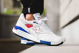 new balance shoes red and blue. new balance 998 white red blue shoes and