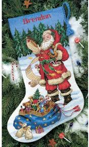 Cross Stitch Stocking Patterns Mesmerizing Dimensions Checking His List Stocking Cross Stitch Kit 48