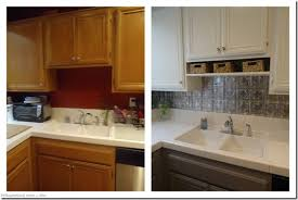 kitchen cabinets painted white before and afterKitchen  Pretty Painted Kitchen Cabinets Before And After Grey