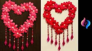 Design Craft Diy Paper Craft Paper Heart Design Valentines Day And Room Decor Ideas Easy Valentines Crafts