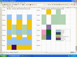 how to make a time schedule in excel a step ahead blogging