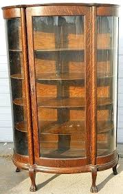 china display cabinets antique curio cabinets quarter oak curved glass china cabinet w claw feet glass china display cabinets