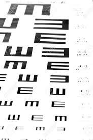Eyesight Test Chart On White Background Close Up