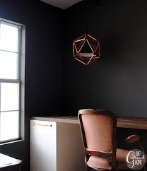 diy copper pipe icosahedron light fixture 4