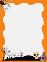 free halloween stationery templates free downloadable stationery borders group 83