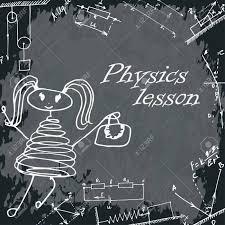 教育委員会の女の子のベクター イラストですフリーハンドでの描画物理学のレッスン