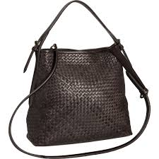 valentina made in italy woven leather hobo bag for women